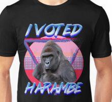 'I VOTED HARAMBE' Vintage T-shirt Unisex T-Shirt