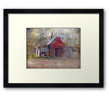 Little Country Store in the Woods Framed Print