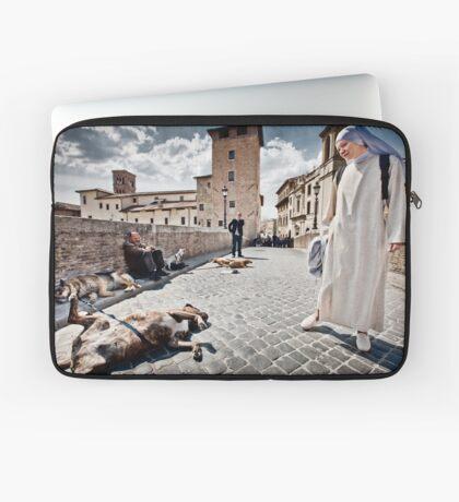 Nun and Dog Rome Italy Laptop Sleeve