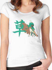 Decidueye With Grass Kanji Women's Fitted Scoop T-Shirt