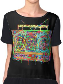 Boom Box Chiffon Top