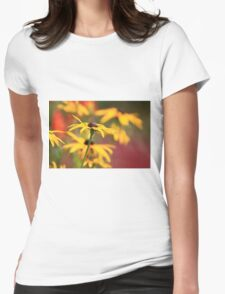 Depth of Field Flower Womens Fitted T-Shirt