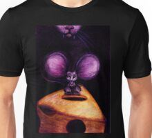 Cat and Mouse on Swiss Cheese Unisex T-Shirt