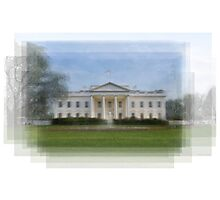 The White House Overlay Photographic Print