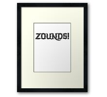 Zounds! Framed Print