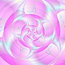 Spiral Pincers in Pink and Blue by Objowl