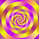 Yellow and Pink Spiral Rings by Objowl