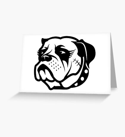 Punk Girl Dog Greeting Card