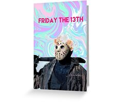 friday the 13th pastel Greeting Card