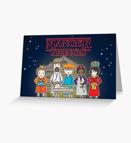 Manger Things Greeting Card