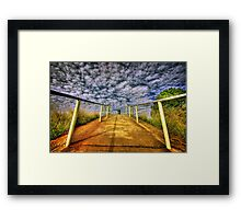 Path to Heaven.... Framed Print