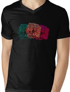 Brain cube Mens V-Neck T-Shirt