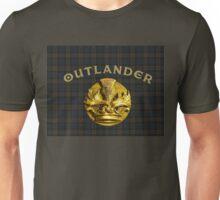Outlander thistle symbol on Fraser tartan plaid Unisex T-Shirt