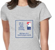 Baseball is Boring Womens Fitted T-Shirt