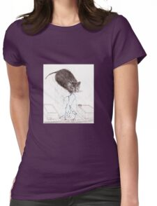 Thunder Cloud Kitty Womens Fitted T-Shirt