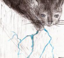 Thunder Cloud Kitty Sticker