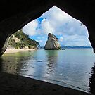 Cathedral Cove, New Zealand 2016 by fullcirclemandalas  is Marg Thomson