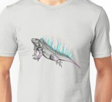 Forest Iguana with Trees Unisex T-Shirt