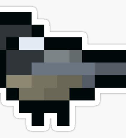 8-Bit Retro Chickadee Sticker