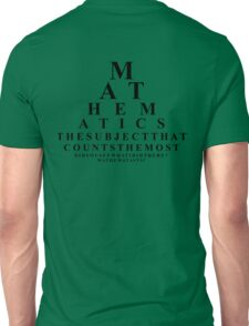 Mathematics, the subject that counts the most  Unisex T-Shirt