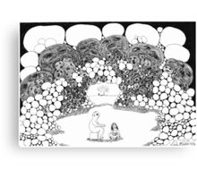In The Grotto With The Naked Man Canvas Print