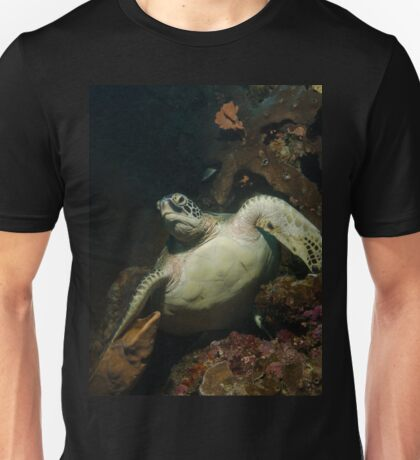 A Green Turtle on the Reef in Bunaken Park, Indonesia Unisex T-Shirt