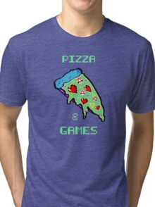 Pizza & Games Tri-blend T-Shirt