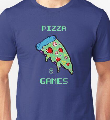 Pizza & Games Unisex T-Shirt