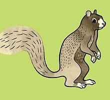 Foxy Squirrel by Tweedles