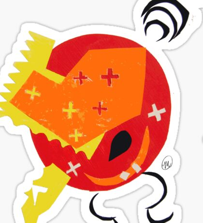 Abstract - Red/Orange/Yellow 2 Sticker