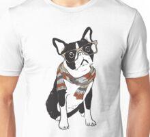 """Pupster"" Hipster Animal Boston Terrier Dog Unisex T-Shirt"