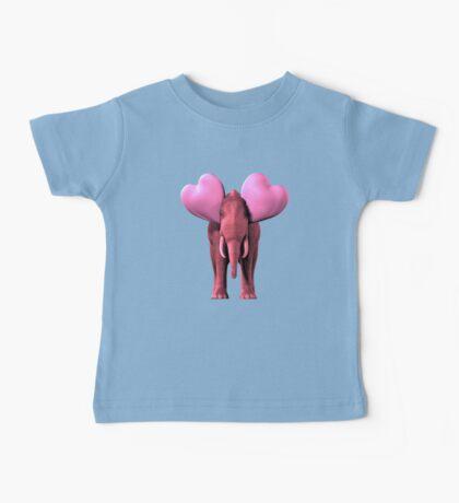 Romantic Pink Elephant Baby Tee