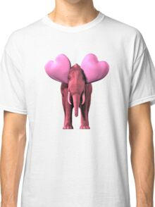 Romantic Pink Elephant Classic T-Shirt