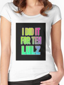 For the LULZ #2 Women's Fitted Scoop T-Shirt
