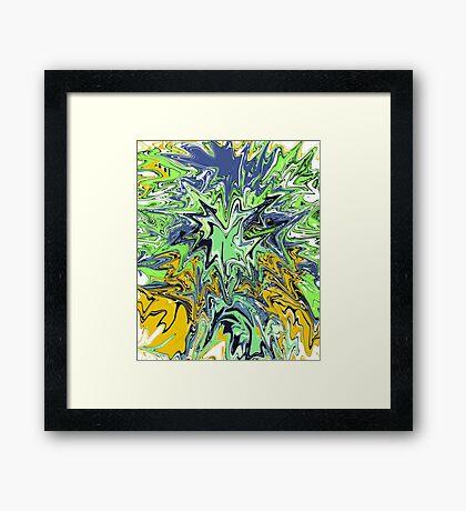 Kermit Kersplash Abstract  Framed Print