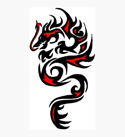 Dragon Red Photographic Print