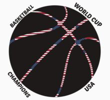 BASKETBALL WORLD CUP 2014 CHAMPIONS USA CONGRATULATIONS by JoAnnFineArt