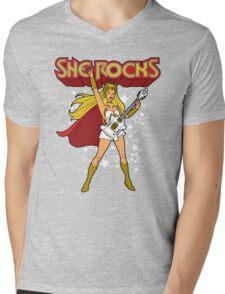 She Rocks Mens V-Neck T-Shirt