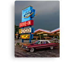 Blue Top Drive-In Canvas Print