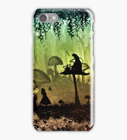 Think Alice & Smoking Caterpillar iPhone Case/Skin