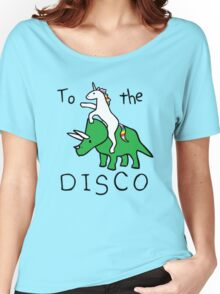 unicorn dinosaurs  to the disco Women's Relaxed Fit T-Shirt