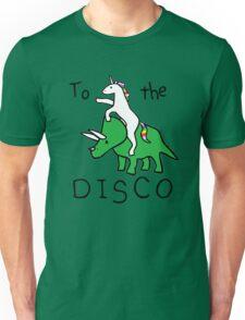 unicorn dinosaurs  to the disco Unisex T-Shirt