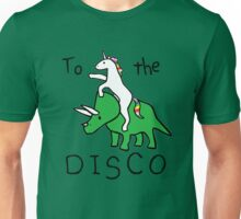 unicorn dinosaurs  to the disco Unisex T-Shirt