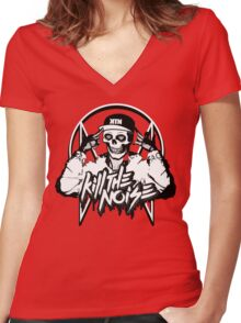 OWSLA - Kill The Noise Women's Fitted V-Neck T-Shirt