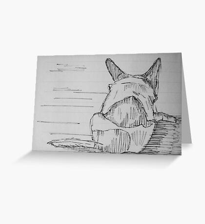 Dog Sketch Greeting Card