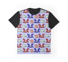 Spy Crab Pattern Graphic T-Shirt