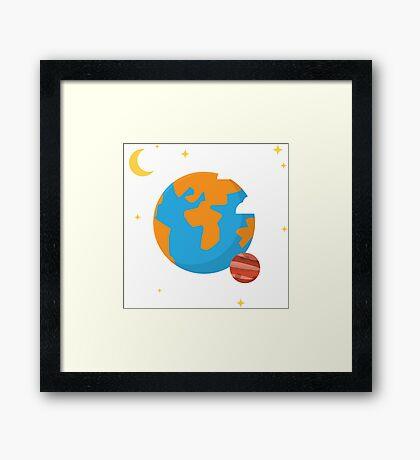 Earth Planet Framed Print