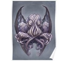 Cthulhu Dreaming, in Decadent indigo Poster