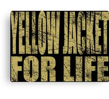 Yellow Jacket for Life Canvas Print