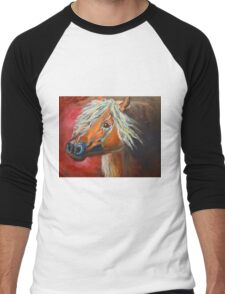 Gypsy Vanner - Rusty Men's Baseball ¾ T-Shirt